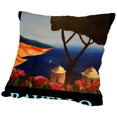 Markus Bleichner Rodrigues Ravello Amalfi Italy Poster Throw Pillow Size: 18 H x 18 W x 2 D
