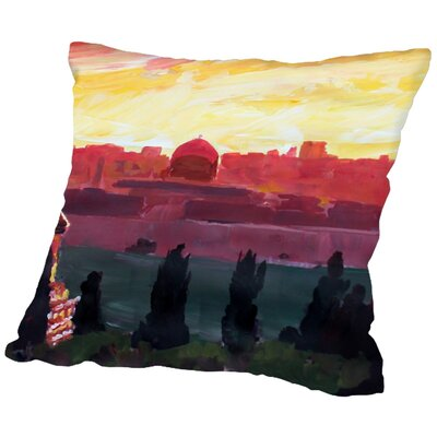 Markus Bleichner Cobos Jerusalem 2 Throw Pillow Size: 16 H x 16 W x 2 D