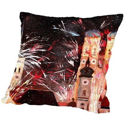 Markus Bleichner Callas Munchen Silvester Feuerwerk Throw Pillow Size: 18 H x 18 W x 2 D
