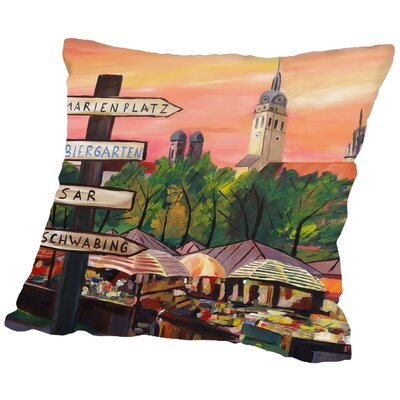 Markus Bleichner Mcmahan Munich Viktualienmarkt Throw Pillow