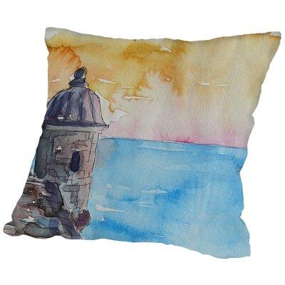 Markus Bleichner Melancon Puerto Rico El Morro Throw Pillow Size: 16 H x 16 W x 2 D
