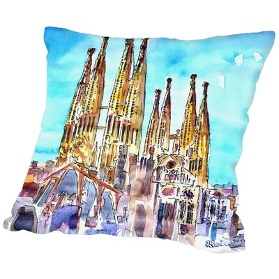 Markus Bleichner Silcox Sagrada Familia Barcelona Catalonia Neu Throw Pillow Size: 20 H x 20 W x 2 D