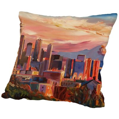 Markus Bleichner Decosta Seattle Throw Pillow Size: 18 H x 18 W x 2 D