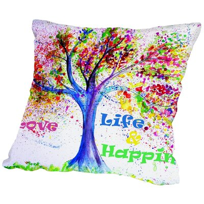 Markus Bleichner Odle Tree Love Life Happiness Throw Pillow Size: 16 H x 16 W x 2 D
