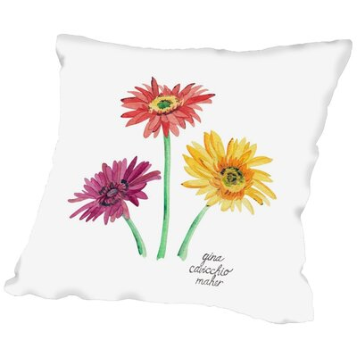 Gina Maher Nelsen Gerber Daisies Throw Pillow Size: 20 H x 20 W x 2 D