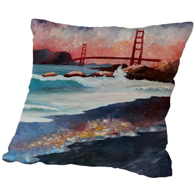 Markus Bleichner Sharrow San Fran Goldengate Throw Pillow Size: 20 H x 20 W x 2 D