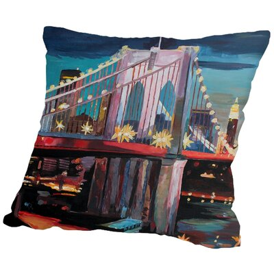 Markus Bleichner Boehm NYC Bridge 3 Throw Pillow Size: 18 H x 18 W x 2 D