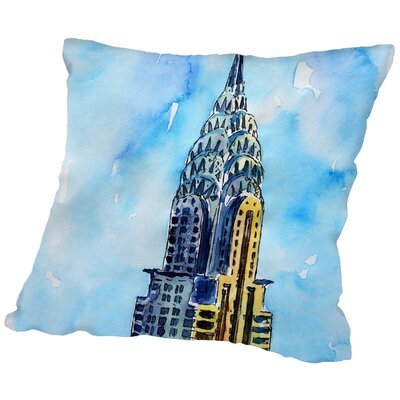 Markus Bleichner Fluellen NYC Chrysler Building Solitary View Neu Throw Pillow Size: 16 H x 16 W x 2 D
