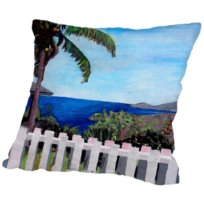 Markus Bleichner Baccus English Harbour Antigua Throw Pillow Size: 18 H x 18 W x 2 D