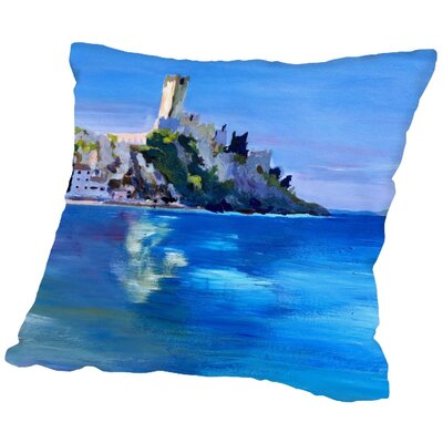 Markus Bleichner Oren Malcesine with Castello Scaligero 2 Throw Pillow Size: 20 H x 20 W x 2 D