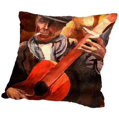 Markus Bleichner Hedge The Guitarrero Throw Pillow Size: 20 H x 20 W x 2 D