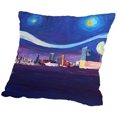 Markus Bleichner Wakeland Starry Night in Hamburg Throw Pillow Size: 16 H x 16 W x 2 D