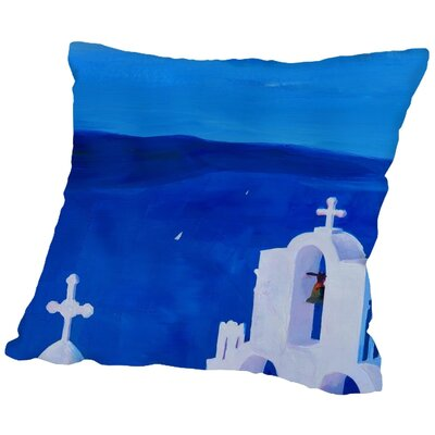 Markus Bleichner Veras Enchanting Santorini Greece View Throw Pillow Size: 18 H x 18 W x 2 D