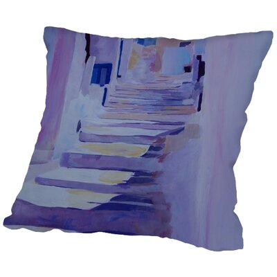 Markus Bleichner Caruthers Enchanting Mykonos Greek Islands Stairs Throw Pillow