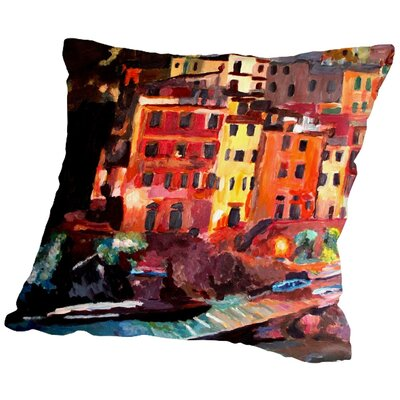 Markus Bleichner Pando Magic Cinque Terre Night in Riomaggiore Throw Pillow Size: 18 H x 18 W x 2 D