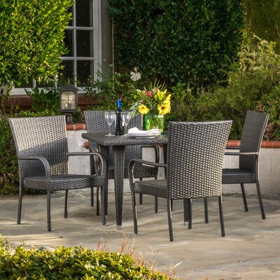 Gunning Outdoor 5 Piece Dining Set Finish: Gray