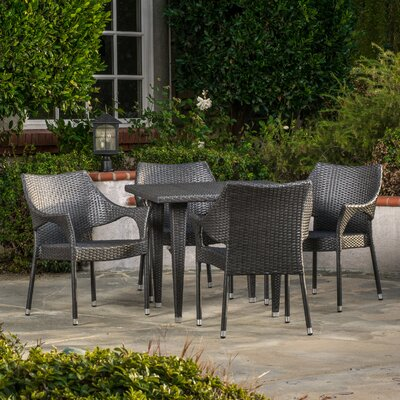 Blackstock 5 Piece Dining Set Finish: Grey