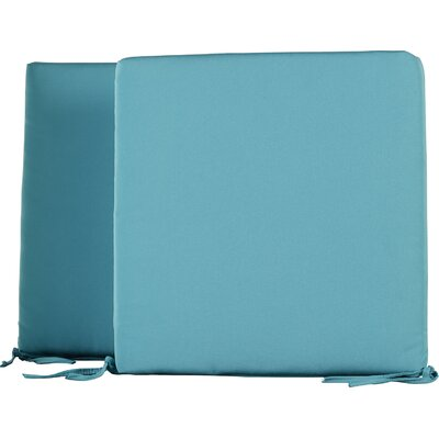 Mcneill Outdoor Dining Chair Cushion Fabric: Aruba Blue, Size: 20