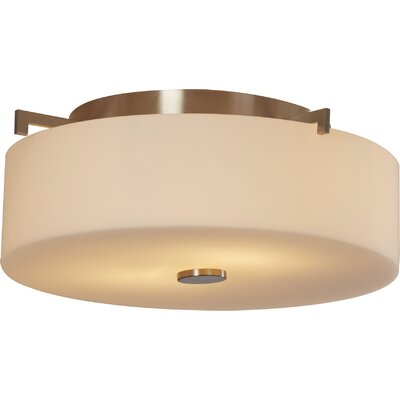 Brundage 2-Light Flush Mount Finish: Brushed Steel