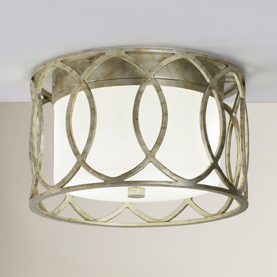 Balducci 2-Light Flush Mount Finish: Silver Gold
