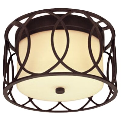 Balducci 2-Light Flush Mount Finish: Deep Bronze
