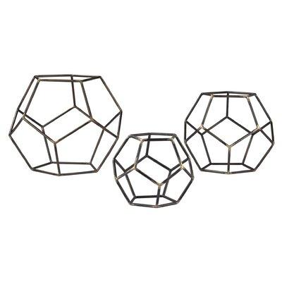 3 Piece Geometric Orb Set