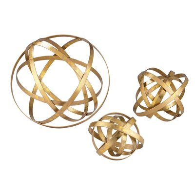 3 Piece Open Structure Metal Orb Set