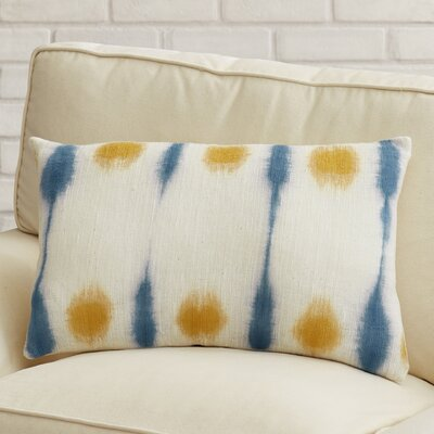 Morford Lumbar Pillow Color: Burnt Orange  /Sky Blue