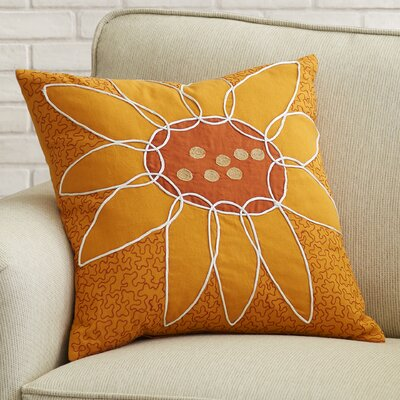 Burnham Cotton Throw Pillow Size: 18 H x 18 W x 4 D, Filler: Polyester