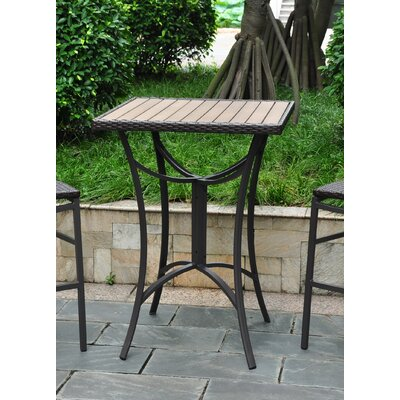 Katzer Wicker Resin/Aluminum Patio Table Finish: Black Antique