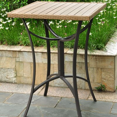 Katzer Wicker Resin/Aluminum Patio Table Finish: Honey