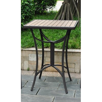 Katzer Wicker Resin/Aluminum Patio Table Finish: Chocolate