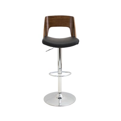 Arechiga Swivel Bar Stool Upholstery: Black