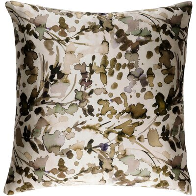 Mishler Silk Throw Pillow Size: 20 H x 20 W x 4 D, Color: White/Tan/Black/Sea Foam/Beige/Lilac/Bright Purple