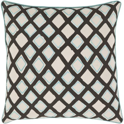 Rolon Cotton Pillow Cover Size: 20 H x 20 W x 0.25 D, Color: Blue