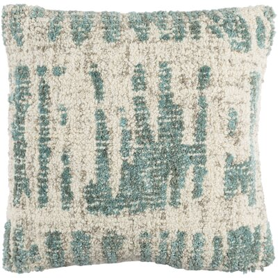 Ferreira Wool Throw Pillow Color: Cream/Mint/Taupe/Light Gray