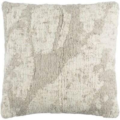 Ferreira Wool Throw Pillow Color: Cream/Medium Gray/Taupe