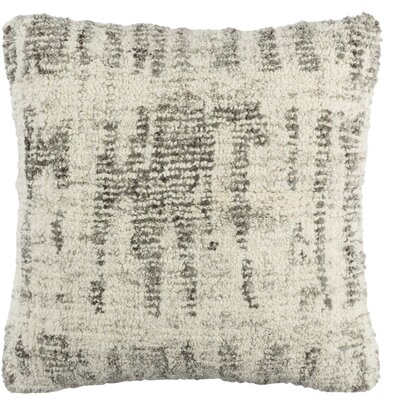 Ferreira Wool Throw Pillow Color: Cream/Medium Gray/Black/Light Gray