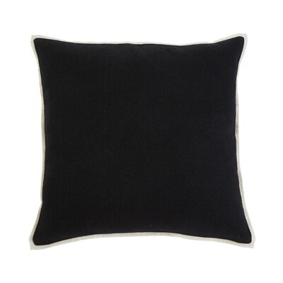 Caro Pillow Cover Color: Black