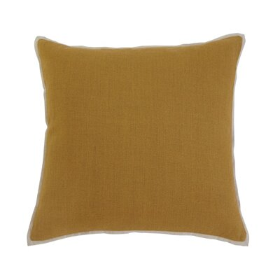 Caro Pillow Cover Color: Mustard