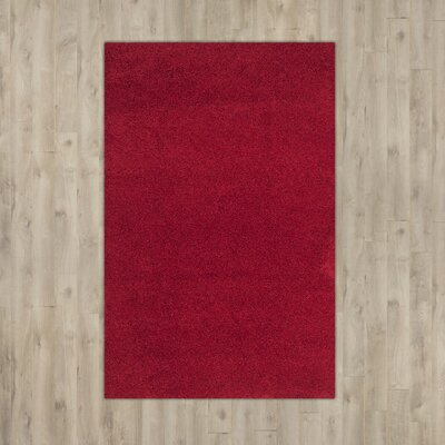 Nickols Red Area Rug Rug Size: Rectangle 67 x 96