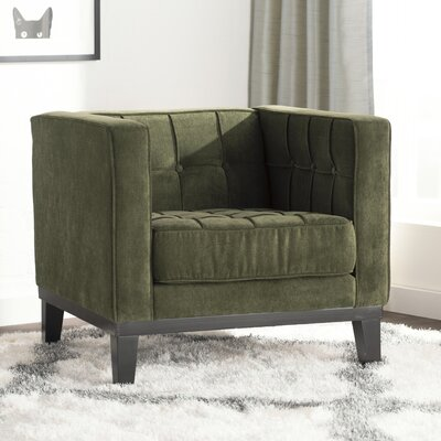 Verdi Tufted Armchair Color: Green