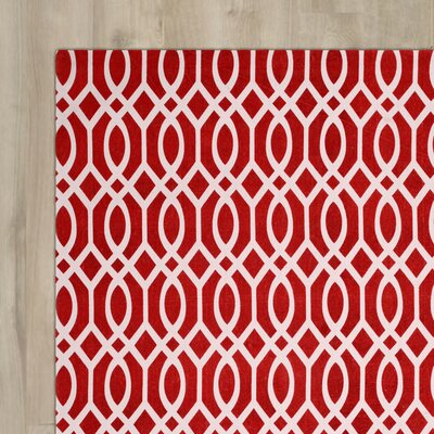 Nolan Hand-Loomed Coral/Ivory Area Rug Rug Size: Rectangle 3 x 5