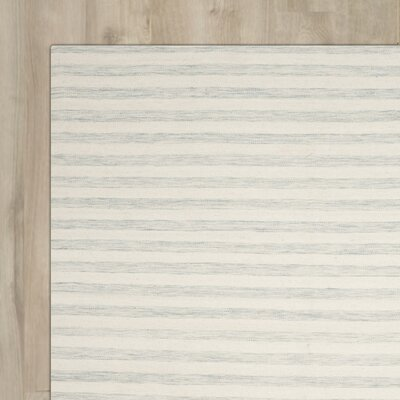 Crawford Hand-Woven Light Blue/Ivory Area Rug Rug Size: Rectangle 8 x 10