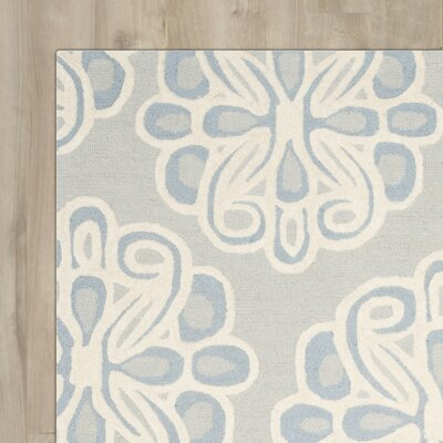 Arana Hand-Tufted Gray/Blue Area Rug Rug Size: Runner 26 x 8