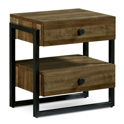 Carbaugh 2 Drawer Nightstand