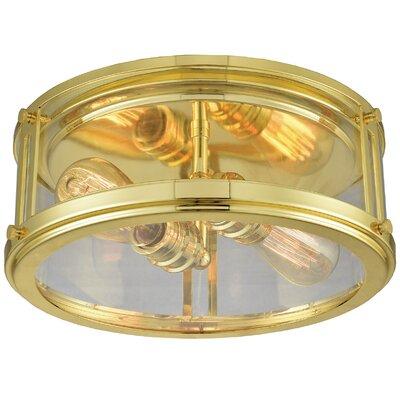 Gines 2-Light Flush Mount Finish: Polished Gold