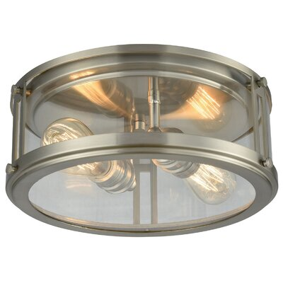 Gines 2-Light Flush Mount Finish: Brushed Nickel