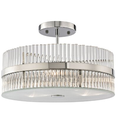 Amezquita 3-Light Semi Flush Mount Bulb Type: 4.8W LED