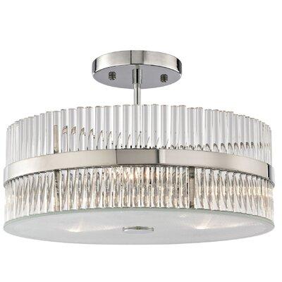 Amezquita 3-Light Semi Flush Mount Bulb Type: 4.8W LED